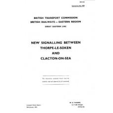 SG029 BR(E) Resignalling from Thorpe-le-Soken to Clacton 1959