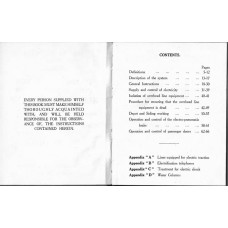 RR025 BR Instructions for working Shenfield Electric Trains 1949
