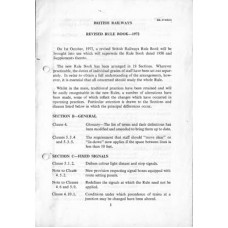 RR028 BR Rule Book 1972