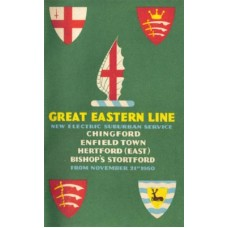 TP020 BR Timetables for new Electric Suburban Services 1960