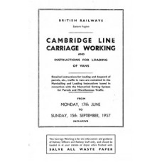 TO022 Cambridge Line Carriage Working summer 1957