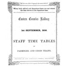 TW001 ECR Staff Timetables 1856