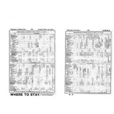 TP012 East Anglian Timetables Bradshaw 1931