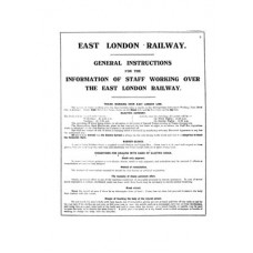 RR007 East London Railway Working Instructions March 1923