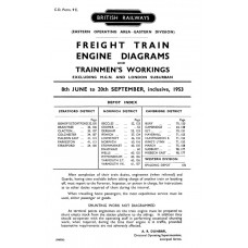 TO030 Freight loco and train crew diagrams – GE area, summer 1953