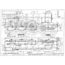 LG021 GER 4-6-0 Tender Loco