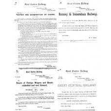 RR023 GER Goods Department Notices from the 1890s