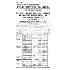 RE016 GER Notice of New Works No. 153  July 1898