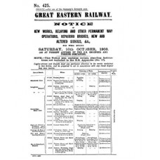 RE018 GER Notice of New Works No. 425  October 1903