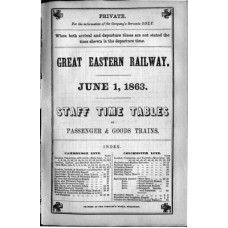 TW002 GER Staff Timetables 1863