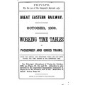 TW003 GER Working Timetables 1866