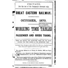 TW004 GER Working Timetables 1870