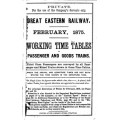 TW005 GER Working Timetables 1875