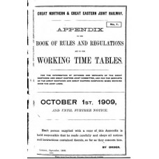 TW028 GN and GE Appendix to the Working Timetables 1909