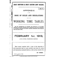 TW029 GN and GE Appendix to the Working Timetables 1913