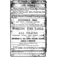 TW009 GN and GE Joint Working Timetables 1895