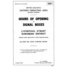 SG031 Hours of Opening of Signal Boxes 1953