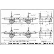 LG040  GER 10-ton double bolster wagon
