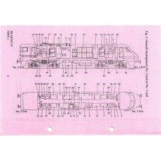 LM036  Instructions for Class 91 Electric Locomotives 1988