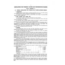 RR019 LNER Regulations for Brakes and Slip Carriages 1926