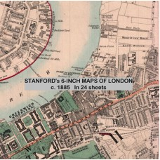 LON.DVD.  Stanford's 6-inch Maps of London c.1885