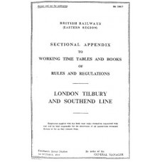 TW017 LTSR Line Appendix to the Working Timetable 1960