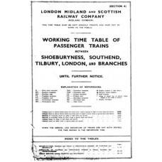 TW016 LTSR Passenger Working Timetables, undated LMS
