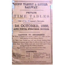 TW013 LTSR Private Timetables 1888