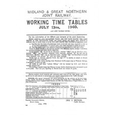 TW024 M and GN Working Timetables 1903