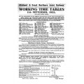TW026 M and GN Working Timetables 1933