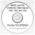 MTT.CD:  M and GN Working Timetables CD
