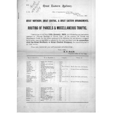 RC031  GER Circulars to Goods Depots 1909 and 1912