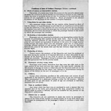 RC044  Conditions relating to Passengers' Tickets and Luggage, BR 1950