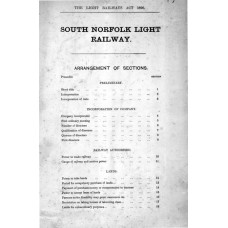 RH041  Proposed South Norfolk Light Railway 1898