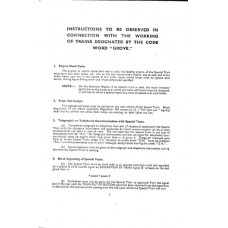 RR047 Instructions for working Royal Trains 1957