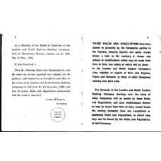 RR051 LNER Rule Book 1926