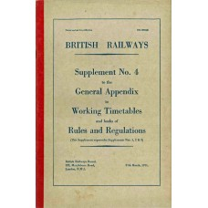 RR053  Supplement to the Working Timetables Appendix, BR 1971