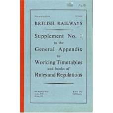 RR054  Supplement to the Working Timetables Appendix, BR 1974