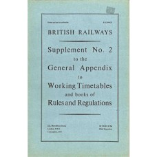 RR056  Supplement to the Working Timetables Appendix, BR 1976