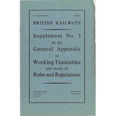 RR057  Supplement to the Working Timetables Appendix, BR 1978
