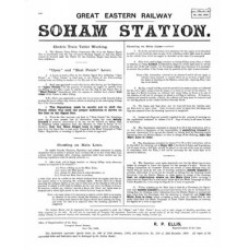 SG040  Soham signalling instructions 1909