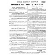 SG044 Hunstanton signalling instructions 1909