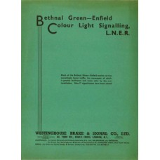 SG065  Colour Light Signalling from Bethnal Green to Enfield, LNER 1938