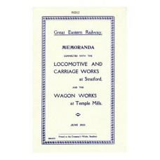 RG012 Stratford Works 1921