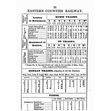 TP001 Timetables and Fares in the Eastern Counties 1842