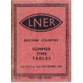 TP027 LNER Timetables for the Eastern Counties Summer 1939