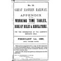TW032 GER Appendix to the Working Timetable 1899