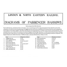 LG043:  Diagrams of LNER Passenger Barrows, c.1929.