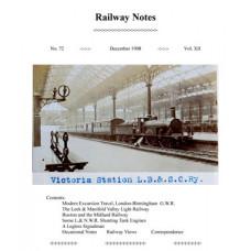 MG018:  'Railway Notes' No.72, December 1908.