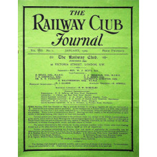MG019:  The Journal of the Railway Club for 1909.